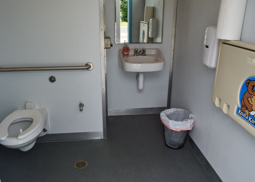 Inside of restrooms