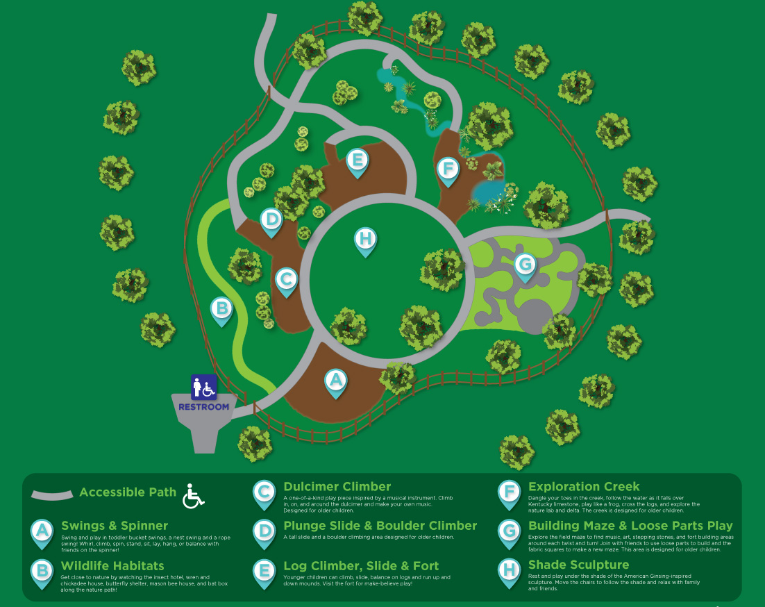 Adventure Play Area map