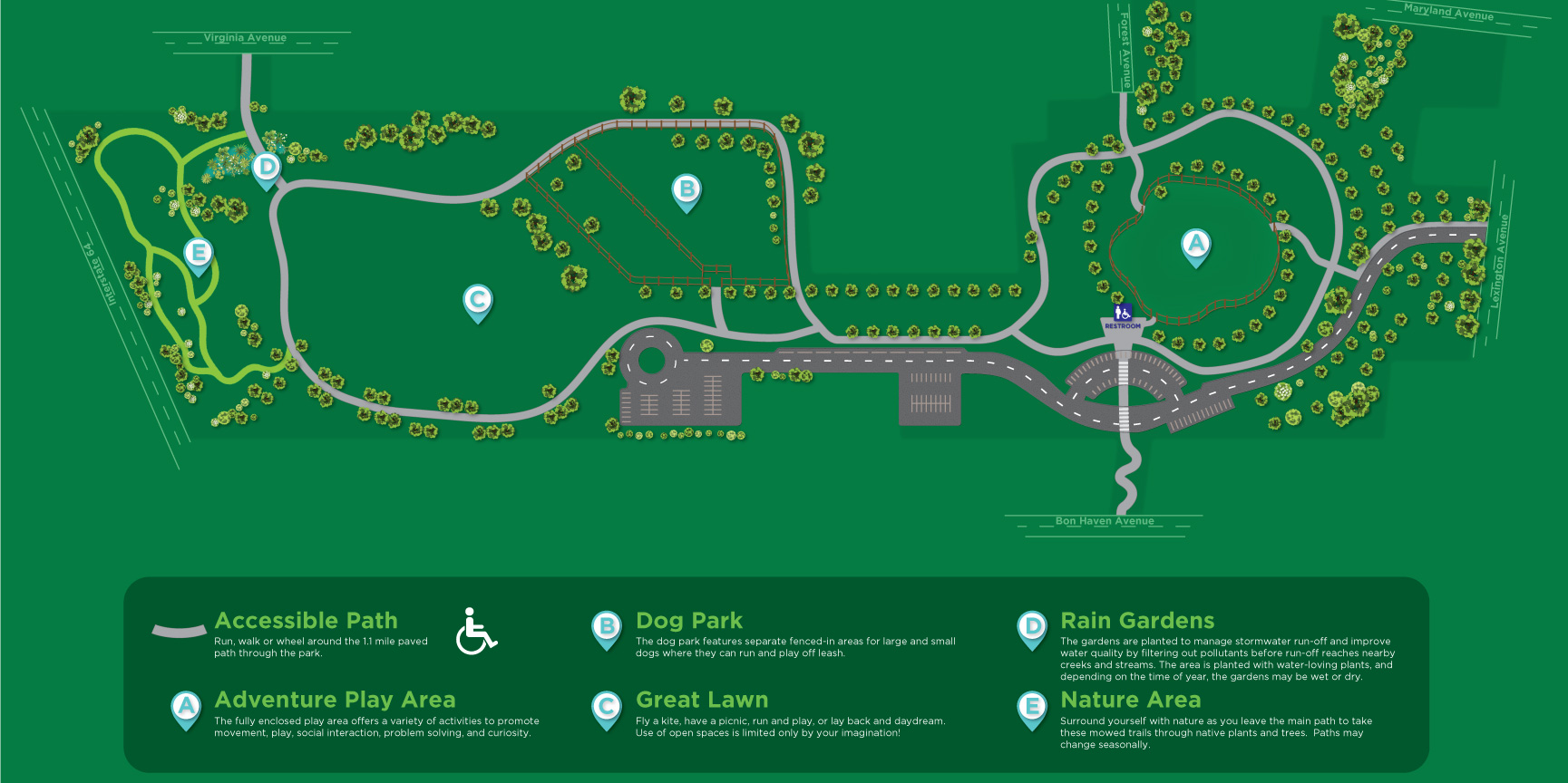 Legacy Grove park map