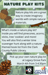 Nature Play Kits descriptive flyer