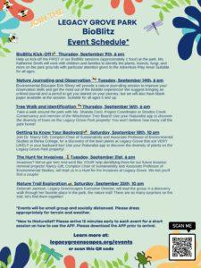 BioBlitz Schedule